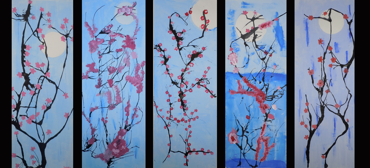 Japanese Cherry Blossom Painting Acrylic Images amp Pictures Becuo